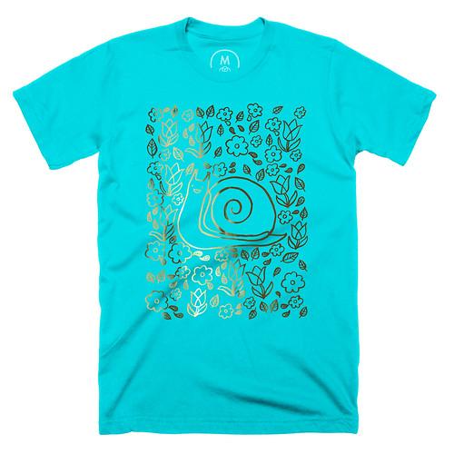 Snail Garden Tahiti Blue T-shirt