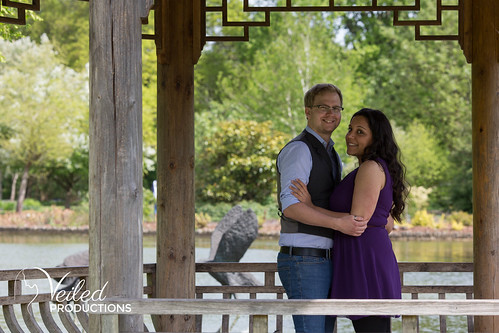 Jamie and Alex Wisley Gardens Engagement Photo Shoot