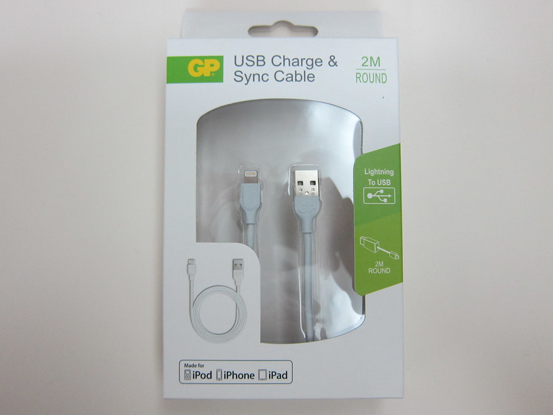 GP Charge & Sync Lightning USB Cable - Box Front