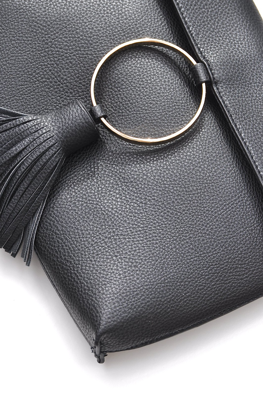 Asos Black circle clutch bag 2
