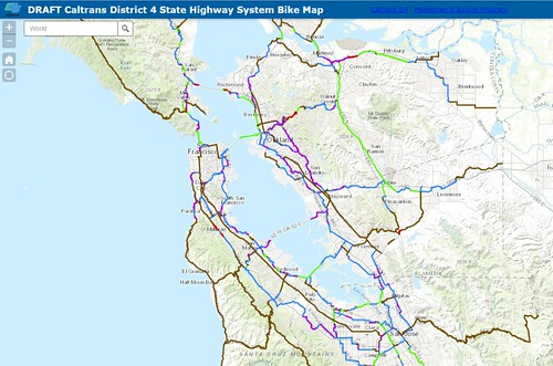 Caltrans District 4 DRAFT bicycle map