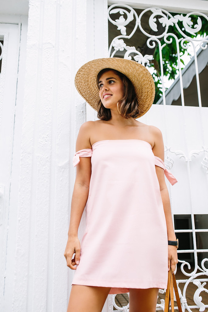 Diy Strapless Dress With Off The Shoulder Arm Ties A