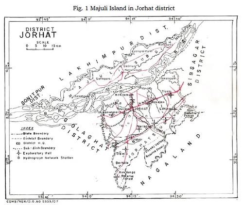 Majuli Island in Jorhat district