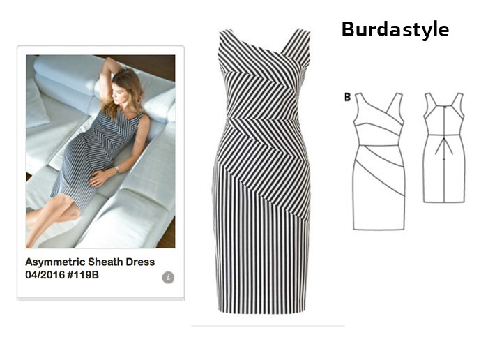 Burdastyle asymetrical dress