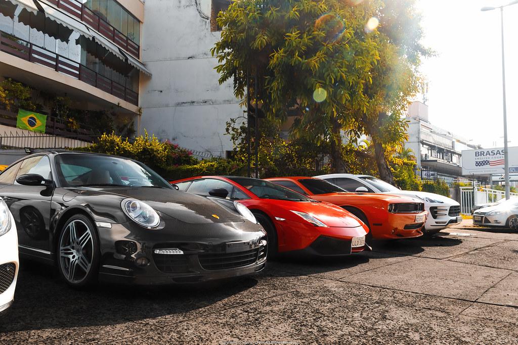 Porsche 911 Turbo, Lamborghini Gallardo LP570-4 Super Trofeo Stradale, Dodge Challenger SRT8 & Porsche Macan Turbo