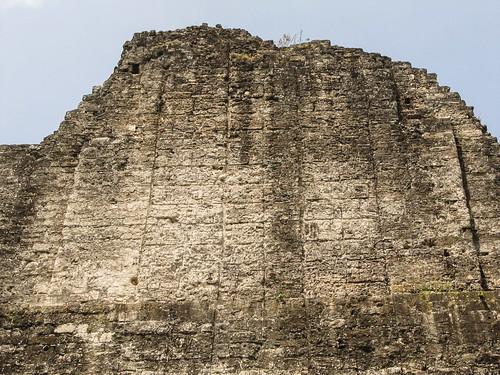 Tikal: le Temple des Inscriptions: remplies d'écritures mayas