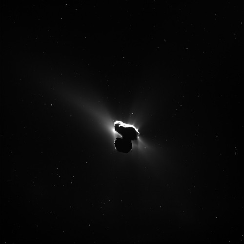 67P from 820 km distance