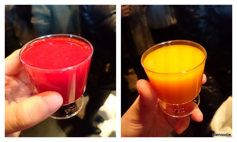 Strawberry Juice and Mango Juice