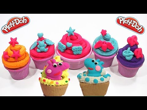 play doh surprise ice cream cakes peppa pig 2015 toys minions videos