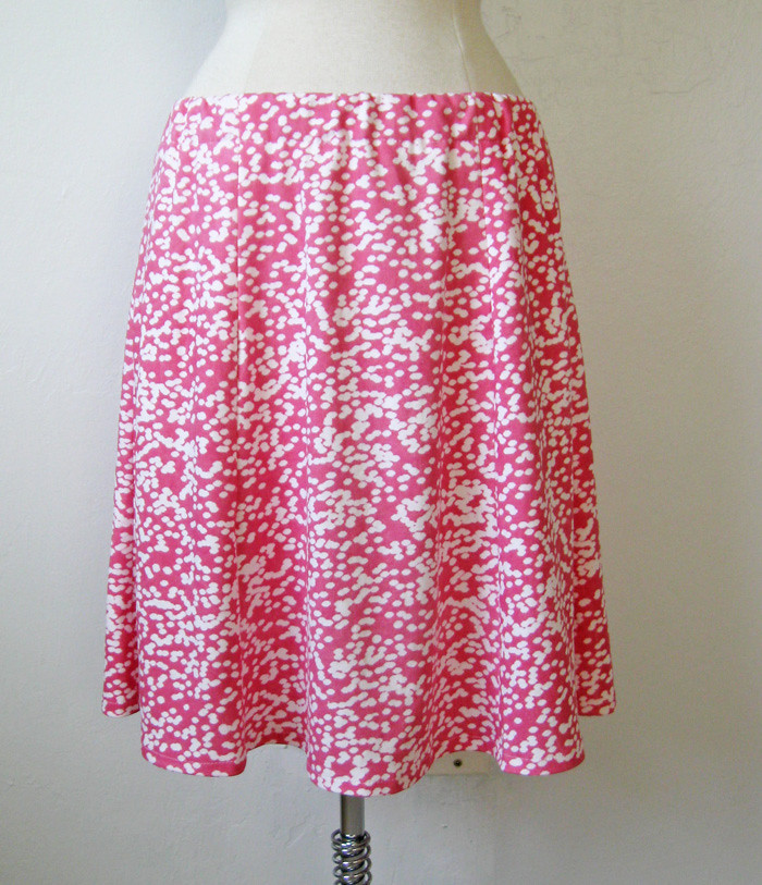 pink white skirt on form
