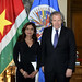 OAS Secretary General Meets with the Minister of Foreign Affairs of Suriname, Niermala Badrising