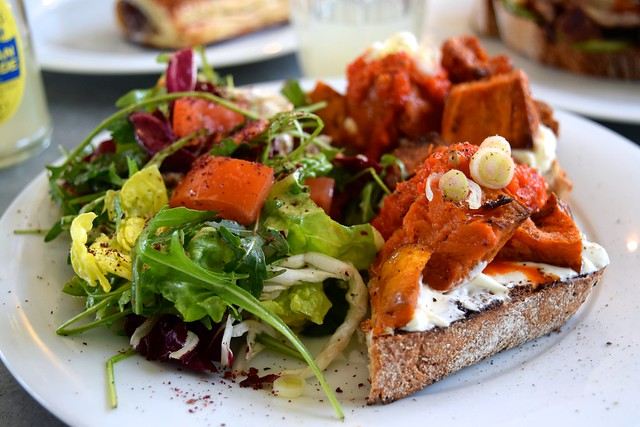 Roast Sweet Potato & Labneh on Toast at Pop Up Cafe, Deal | www.rachelphipps.com @rachelphipps