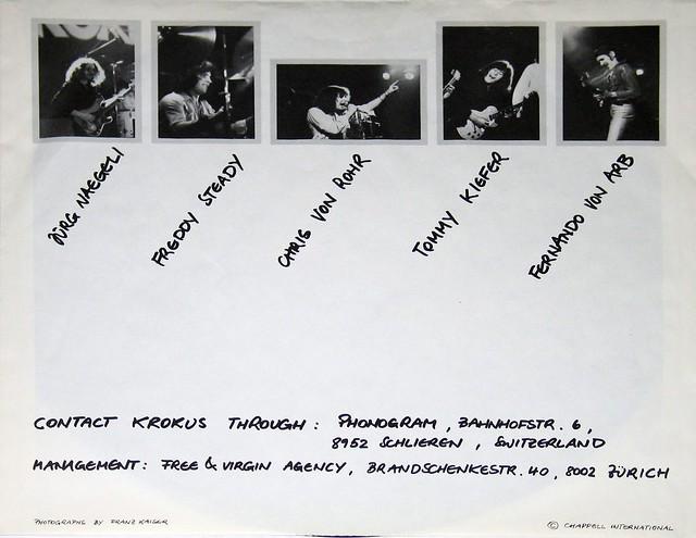 "Krokus Painkiller 12"" vinyl LP"