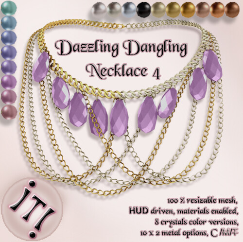 !IT! -  Dazzling Dangling Necklace 4 Image