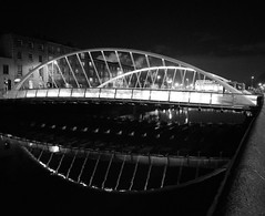 Dublin's James Joyce Bridge, a study in B&W