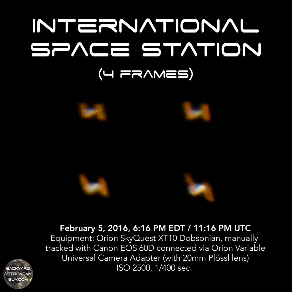 My view of the ISS (International Space Station) tonight