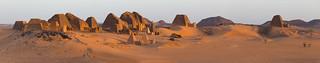 Meroe at sun rise, Sudan