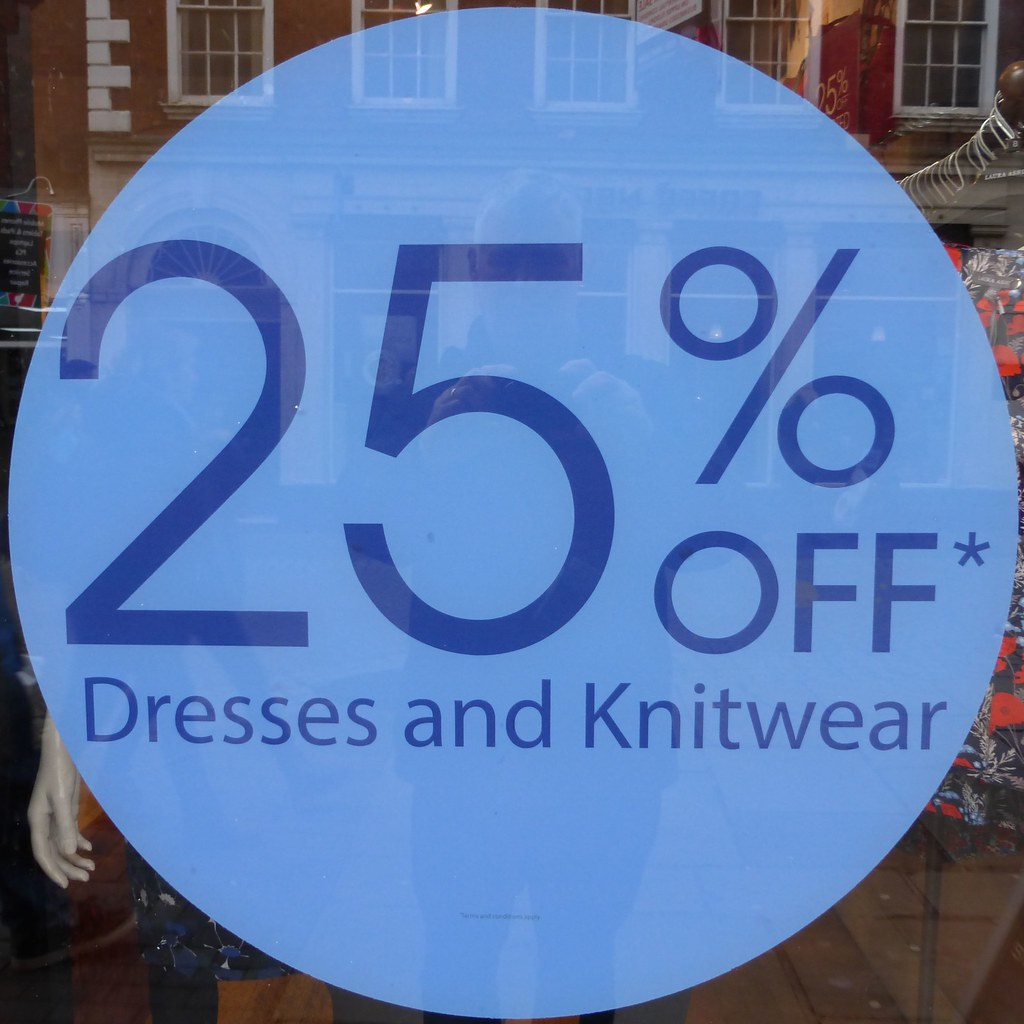 25% off dresses & knitwear