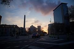 Barcelona - Sunset Over Avinguda Diagonal