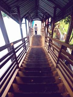 Stranger on stairs