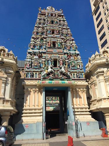 Sri Mahamariamman Tempel direkt neben unserem Hotel