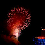 """Rockets Over the River"""" show at the Laughlin Nv."""