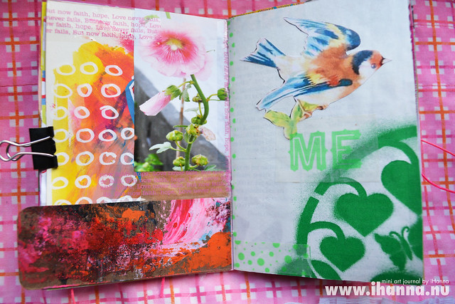 Mini Art Journal Doodles and Collage - created by iHanna