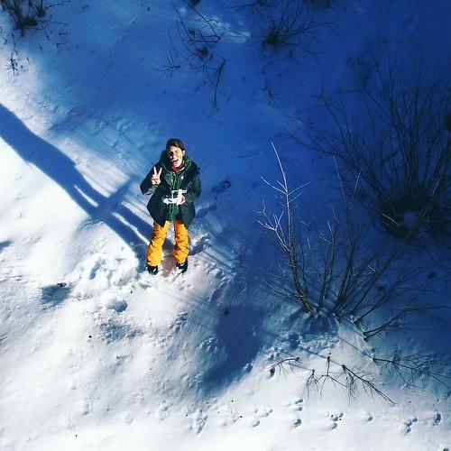 Otra con mi bb #drone #photography #fotografia #snow #high #me #picoftheday #instaphoto #instagram #pic #vail #vailcolorado #travel #happiness