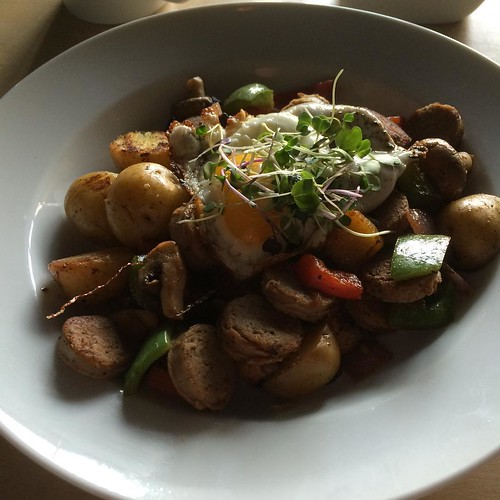 Turkey sausage hash #yegfood