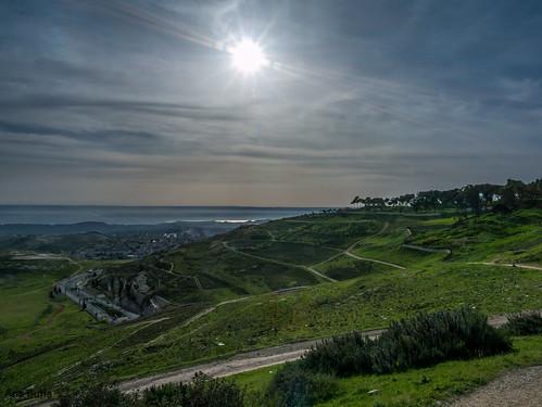nature sunrise landscape israel jerusalem flare svivavatevail