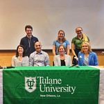 Interns Justin, Emily, and Maddie with their parents who flew down to speak at our Top Scholars Weekend! Parents love Tulane too! #Tulane