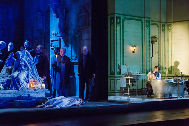 Production photo of Katie Mitchell's Lucia di Lammermoor ©2016 ROH. Photograph by Stephen Cummiskey