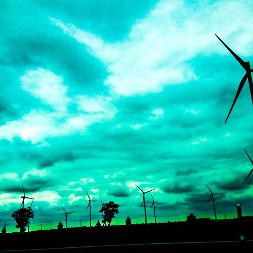 wind turbines <3 on the road to berlin, germany, june 2015