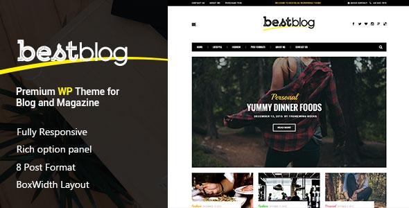 BestBlog v1.0 - Responsive WordPress Blog Theme