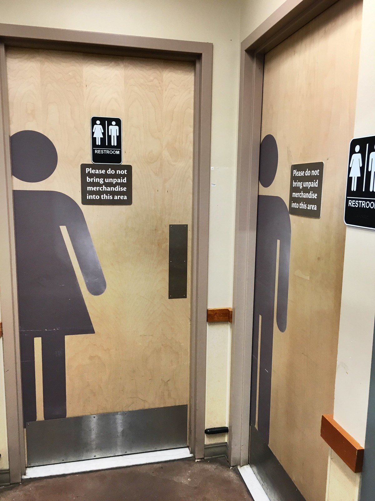They fixed them, sort of. But not really. #safebathroomsDC GiantFood #shaw DCHumanRights