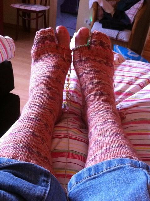 toes socks WIP before toes