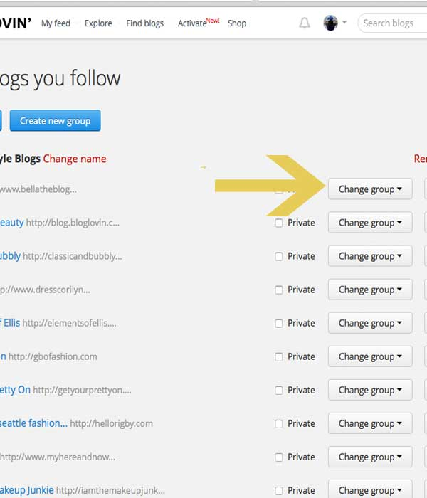 How to Organize Blogs on Bloglovin'