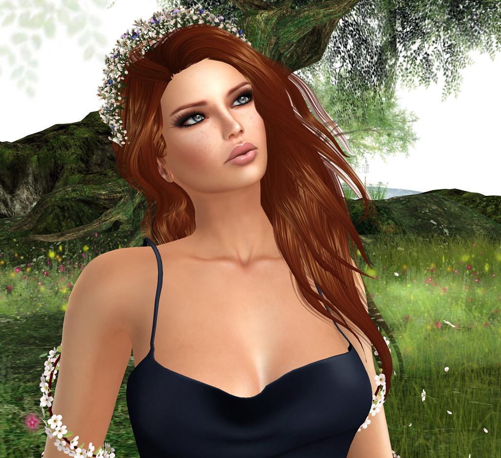 Breath of Spring tiara, Zuri Rayna Jewelry, Quinn skin Oceane Body Design