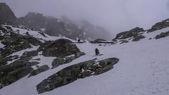 Podejscie na przełęcz Passo Marinelli Occidentale 3014m