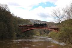 "Severn Valley Railway - ""Bradley Manor"" on Victoria Bridge."
