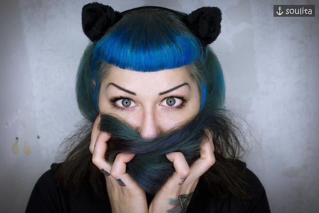 *Black Cat* - Haarreif | Hair Circlet | Fascinator