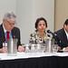 Alfonso Silva, embajador de Chile en Canadá, junto a la ministra Aurora Williams y Alberto Salas, presidente de Sonami, durante la conferencia dedicada a Chile, en PDAC 2016.
