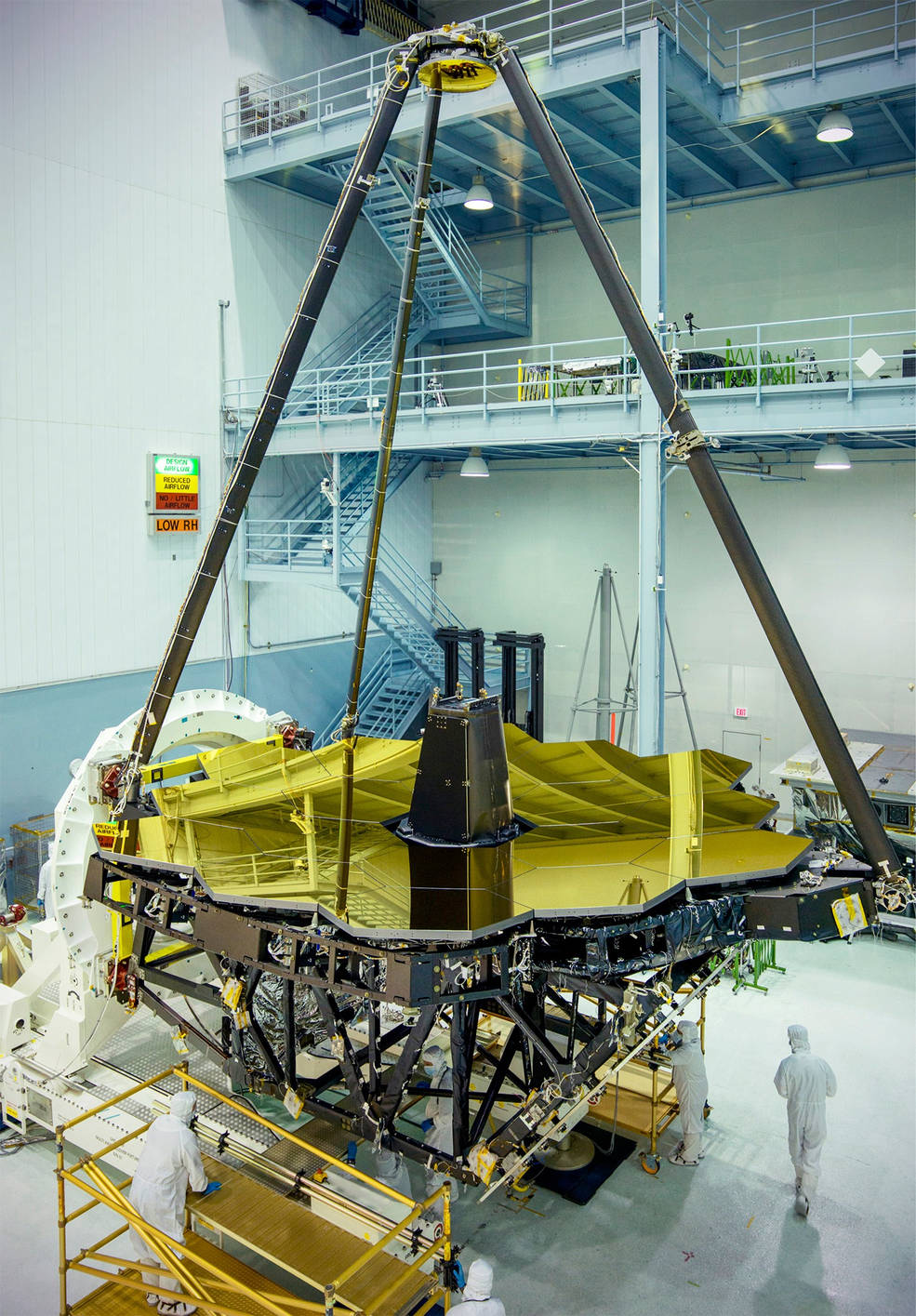 James Webb Space Telescope's Golden Mirror Unveiled