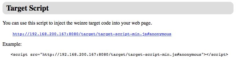weinre - target script