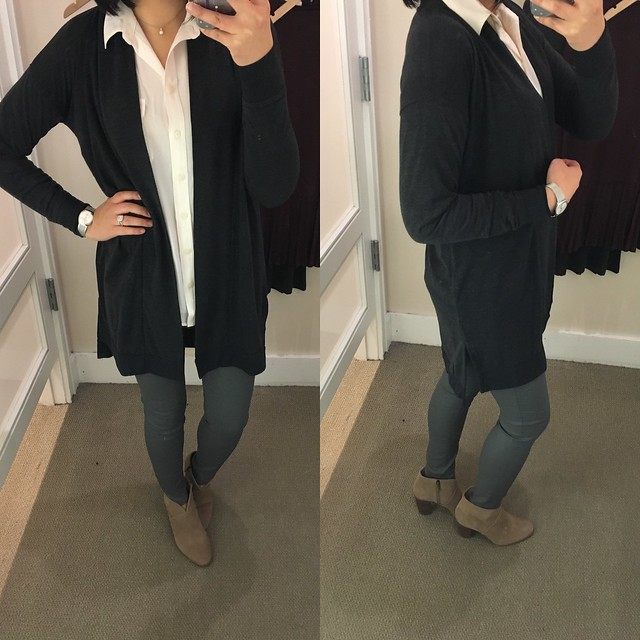 LOFT Long Open Cardigan