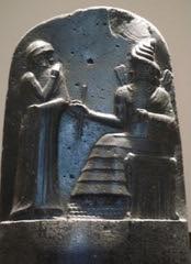 Hammurabi given his Law Code by the Sun God