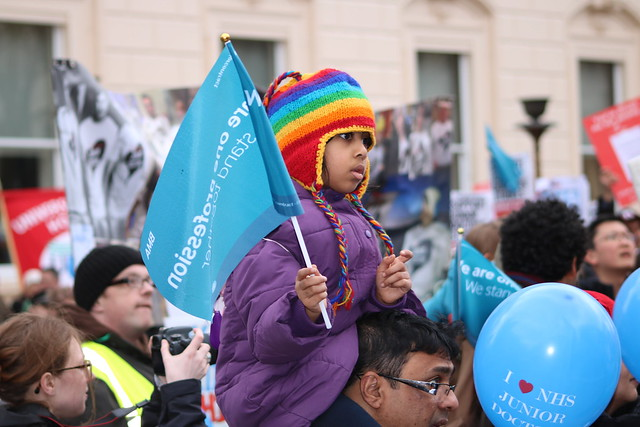 Junior doctor protest march - 6 February 2016