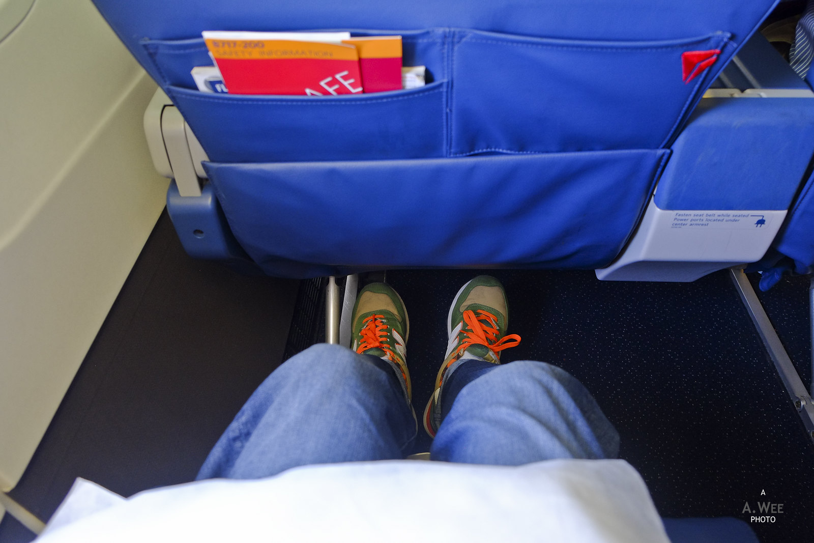 Legroom on the flight