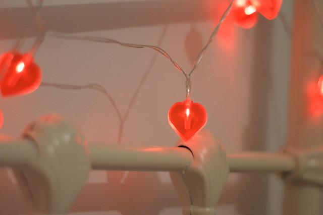 love heart fairy lights