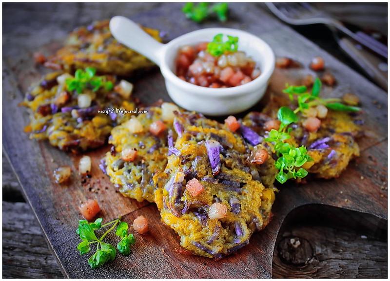 ...hashbrown purple potatoes